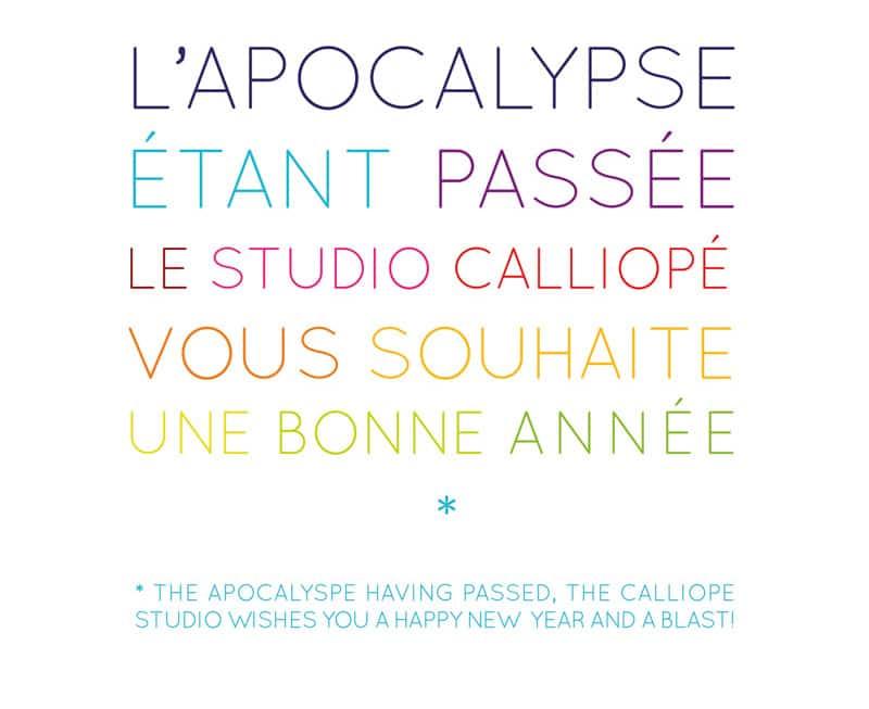 Carte de voeux 2013 © calliopé studio 2013