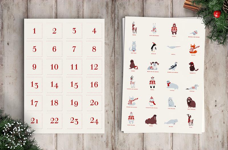 Templates of the advent calendar © calliopé studio, 2014