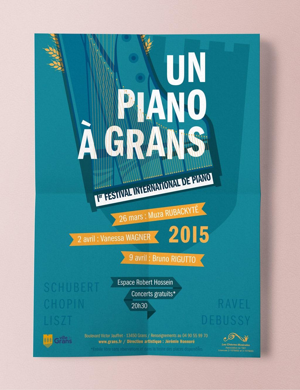 Poster for the International Piano Festival, Un Piano à Grans