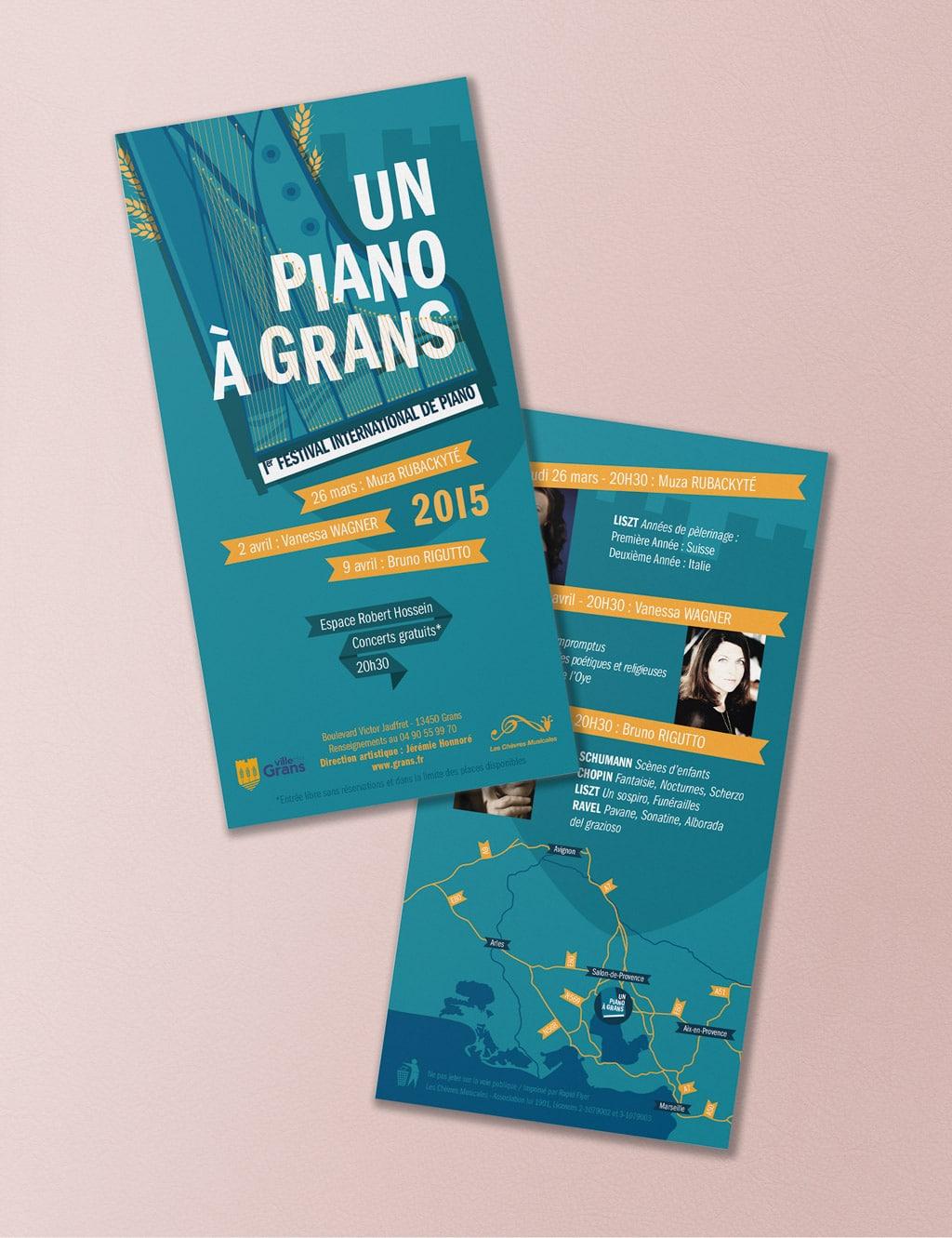 Flyer for the International Piano Festival, Un Piano à Grans