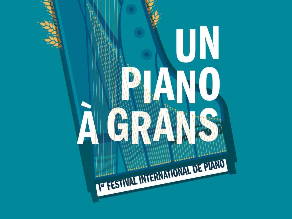 Illustration for the International Piano Festival, Un Piano à Grans  © Calliopé Studio, Marine Pavé 2015