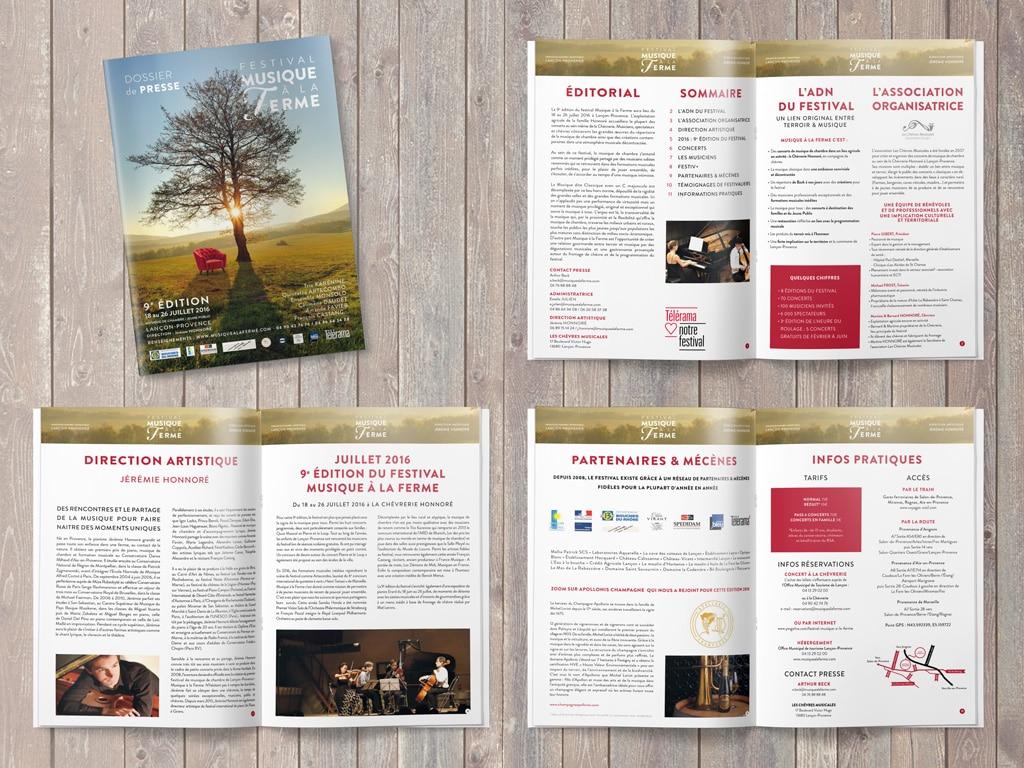 Press release of the 2016 Classical music Musique à la Ferme Festival in Provence © Calliopé Studio, Marine Pavé 2016