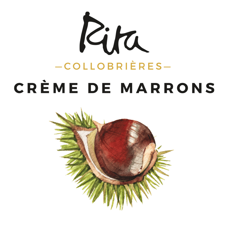 Logo of the artisanal Chesnut cream Rita Collobrières, from Provence © Calliopé Studio, Marine Pavé 2016
