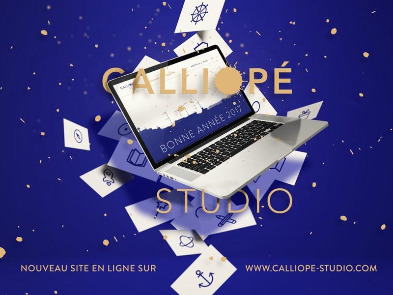 2017 Calliopé Studio Greeting card © Calliopé Studio, Marine Pavé 2017