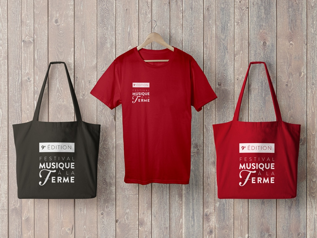 Tote bag & T-shirt for the 2016 Classical music Musique à la Ferme Festival in Provence © Calliopé Studio, Marine Pavé 2016