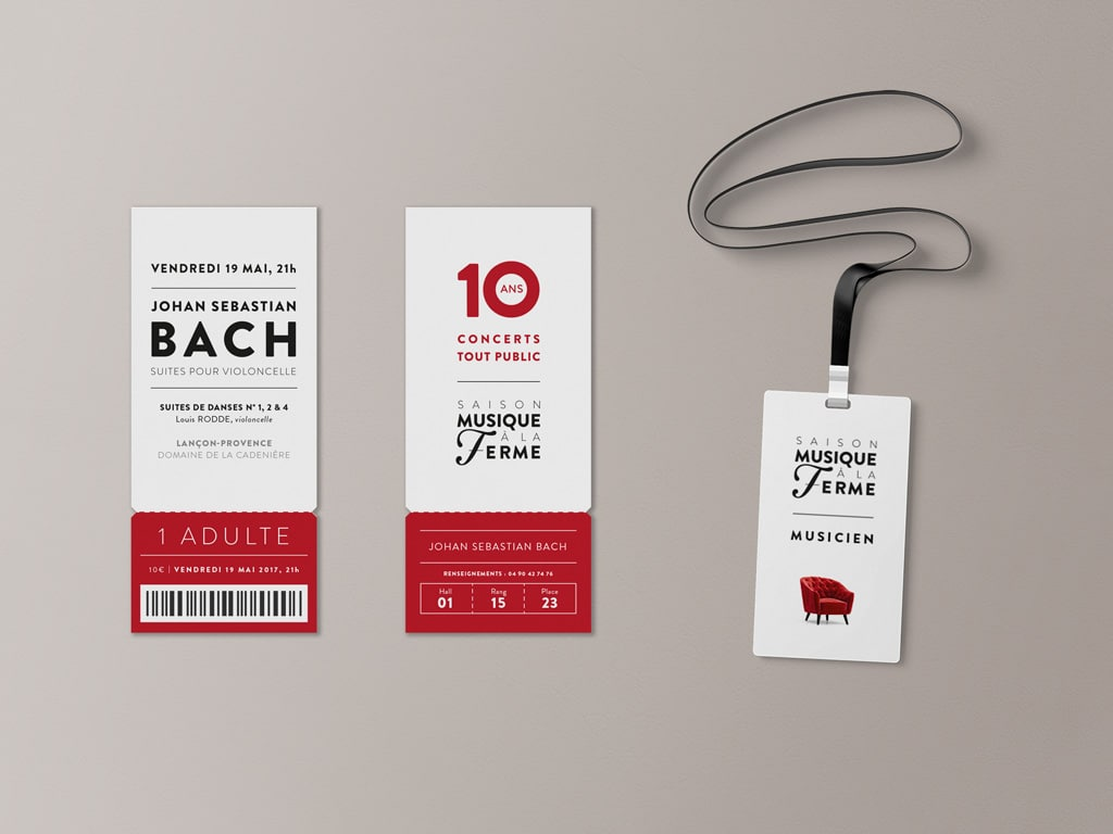 Tickets & Badges for the 2017 Classical music Musique à la Ferme Season in Provence