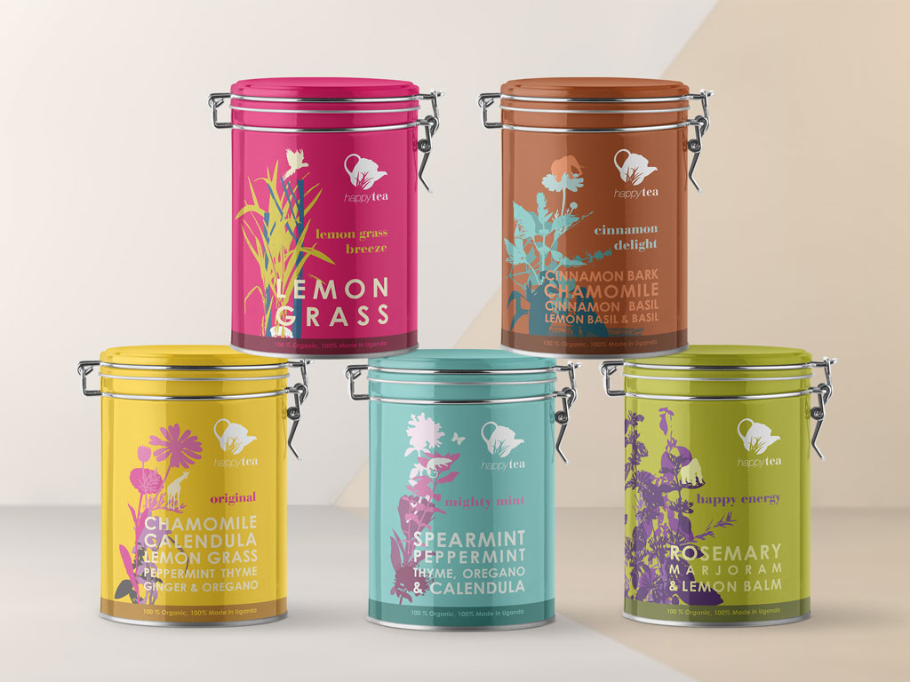 Tea tins packaging