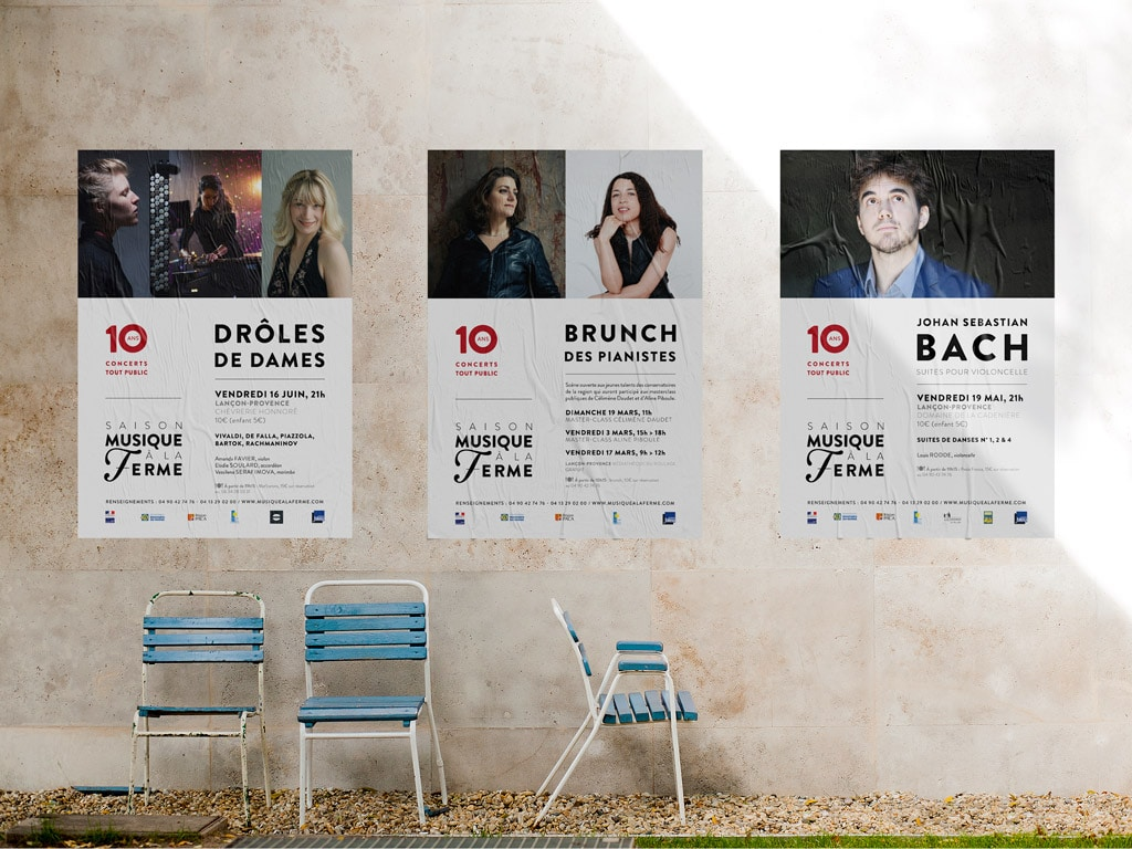 Visual Communication for the 2017 Musique à la Ferme Classical music Season in Provence © Calliopé Studio, Marine Pavé 2017