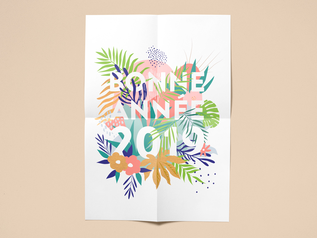 2019 Calliopé Studio Greeting card © Calliopé Studio, Marine Pavé 2019
