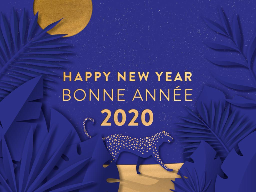 2020 Calliopé Studio Greeting card © Calliopé Studio, Marine Pavé 2020